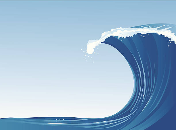 wave - tidal wave stock illustrations, clip art, cartoons, & icons