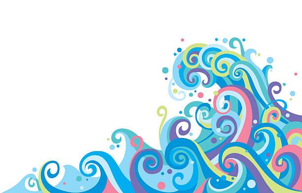 波 - サーフィン点のイラスト素材/クリップアート素材/マンガ素材/アイコン素材
