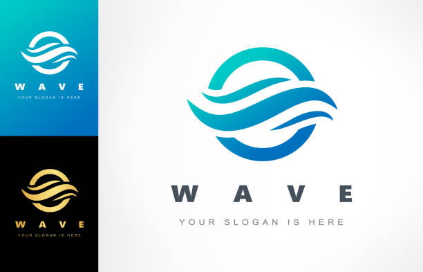 wektor fal. symbol wody. - staw woda stojąca stock illustrations