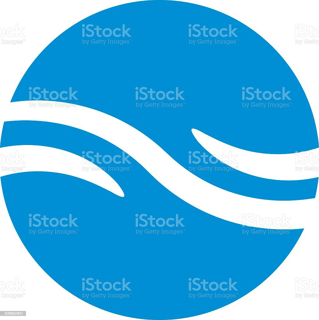 Wave water icon, abstract icon, vector symbol vector art illustration