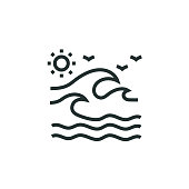 Wave Water Line Icon