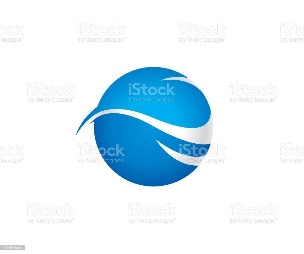 Wave world vector icon vector art illustration