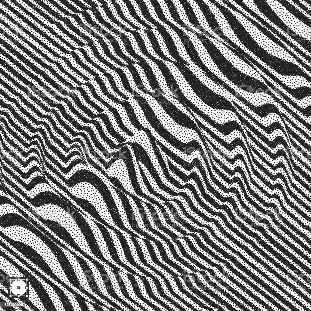 Pointillism Black And White Landscape