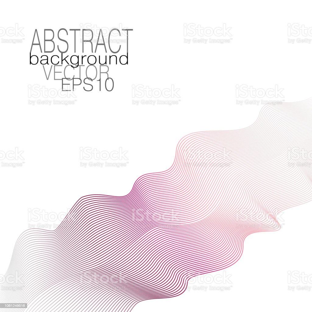 Waveform in pastel bordo, pink, gray gradient. Silk ribbon, waving scarf imitation. Art line design element. Soft shiny background. Abstract vector template for invitation, greeting card, leaflet, flyer, poster, cover. EPS10 illustration векторная иллюстрация