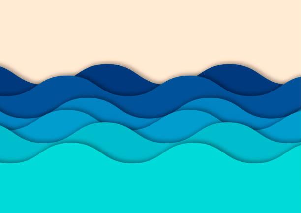 fale tło - fala woda stock illustrations