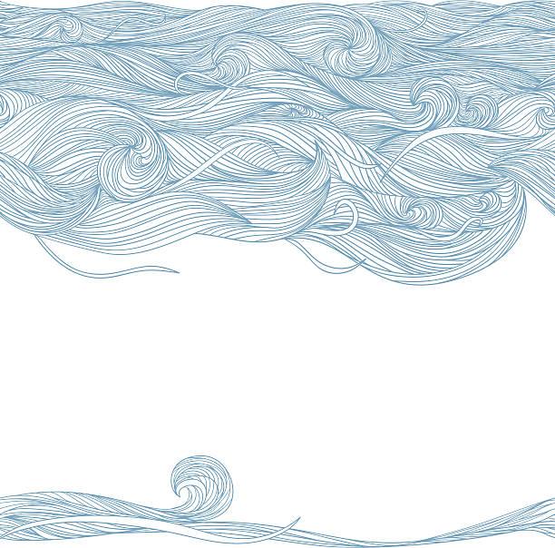 fale. tle. - włosy stock illustrations