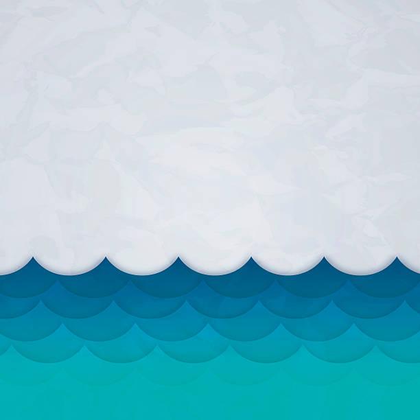 Wellen Hintergrund – Vektorgrafik