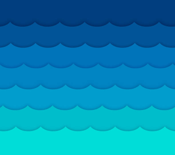 waves background - wave pattern stock illustrations