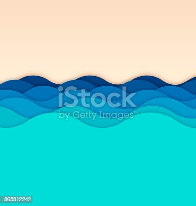 Waves background concept illustration.