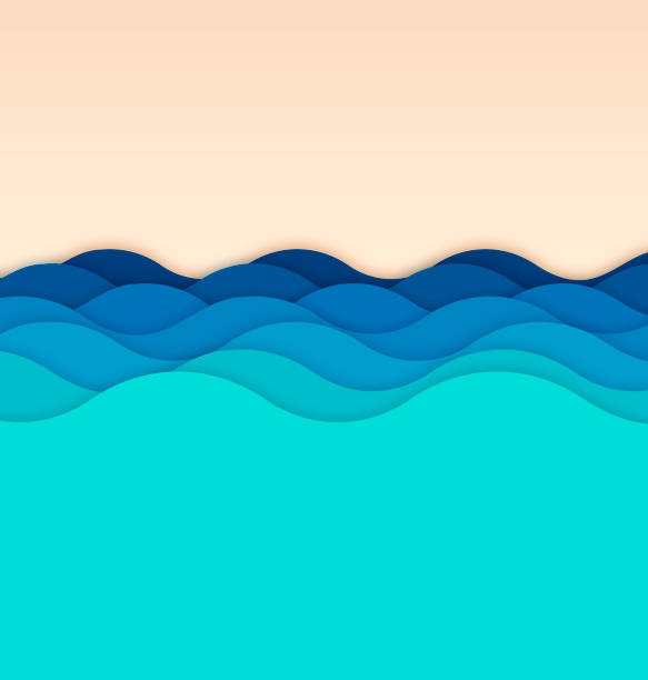 Waves Background Waves background concept illustration. tranquil scene stock illustrations