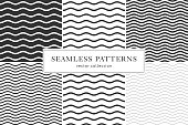 Waves geometric seamless pattern