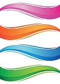 Waves of colorful banners set
