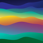 waves of the sea range from soft colors background