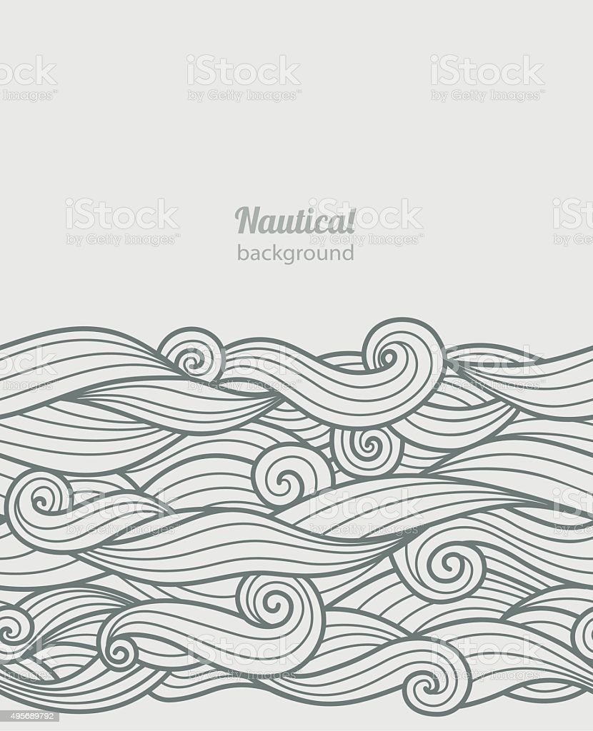 Waves pattern vector art illustration