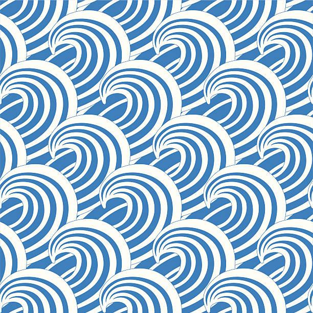 Waves - seamless texture vector art illustration
