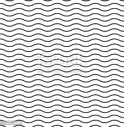 Waves textured vector pattern. Seamless design. Liner background vector illustration ocean. Wavy pattern. EPS 10