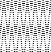 Waves textured vector pattern. Seamless design. Liner background vector illustration ocean. Wavy pattern. EPS 10