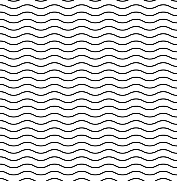 Waves textured vector pattern. Seamless design. Liner background vector illustration ocean. Wavy pattern. Waves textured vector pattern. Seamless design. Liner background vector illustration ocean. Wavy pattern. EPS 10 squiggle stock illustrations