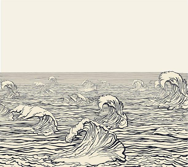 Waves vector art illustration