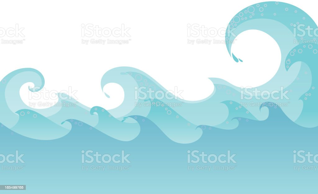 waves vector art illustration