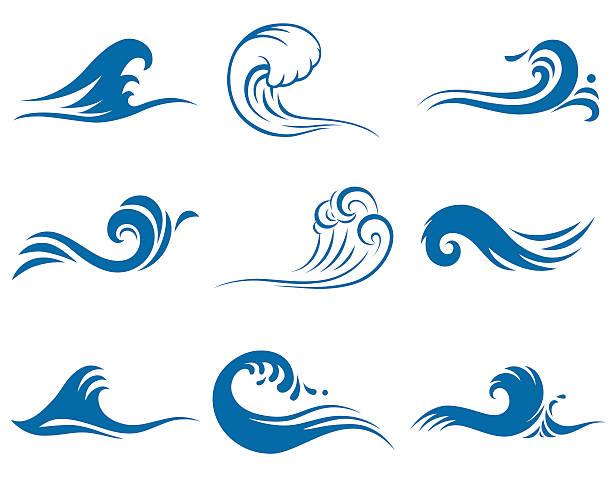 ウェイブズ  - マリンのタトゥー点のイラスト素材/クリップアート素材/マンガ素材/アイコン素材