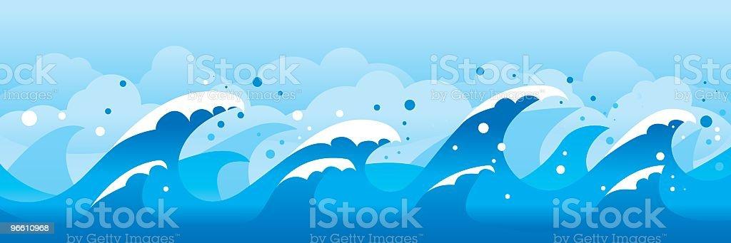 Waves - Royaltyfri Bildbakgrund vektorgrafik