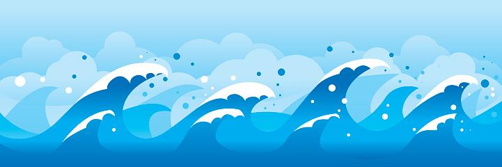 Waves-vektorgrafik och fler bilder på Bildbakgrund
