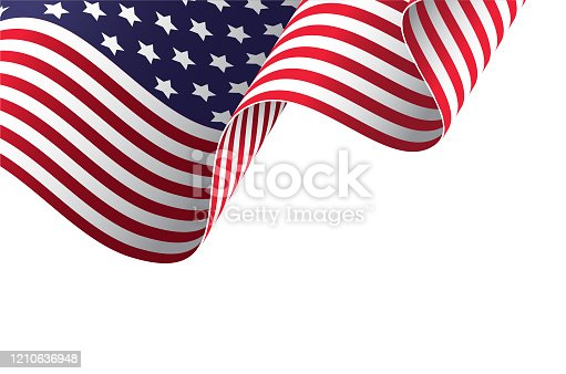 istock Waving American flag in the wind 1210636948