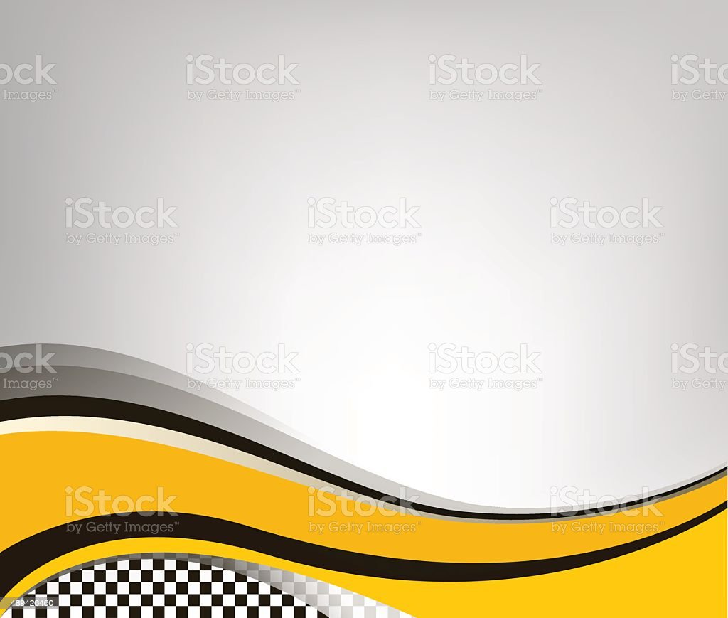 Waving checkered flag grey background vector art illustration