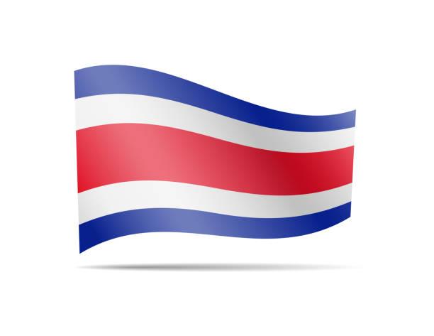 Costa Rica Flagge im Wind wehende. – Vektorgrafik