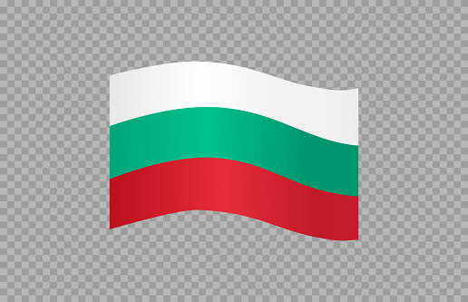 Waving flag of Bulgaria isolated  on png or transparent  background,Symbol of Bulgaria,template for banner,card,advertising ,promote, vector illustration top gold medal sport winner country