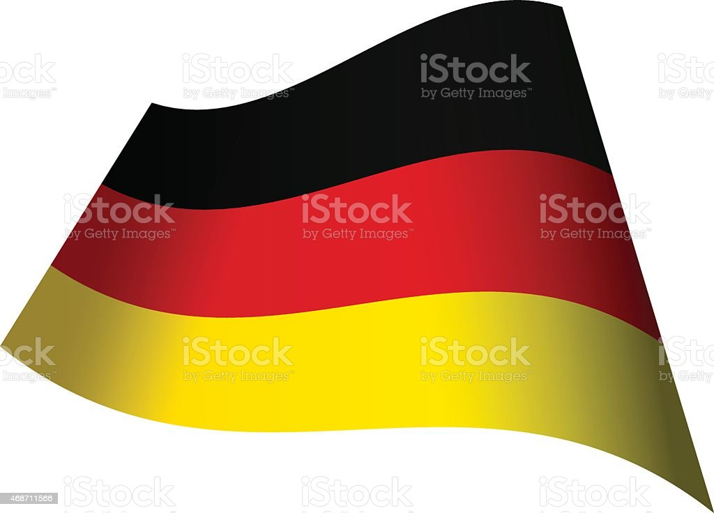 Waving flag of Germany vector art illustration