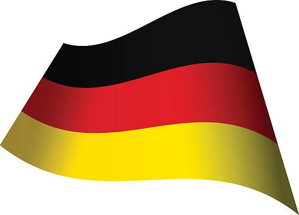 Waving flag of Germany vector art illustration