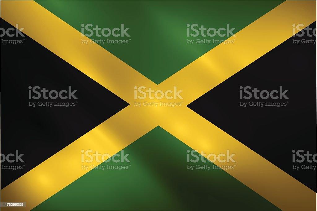 Winken Flagge Des Jamaica Vektorillustration Stock Vektor Art und ...