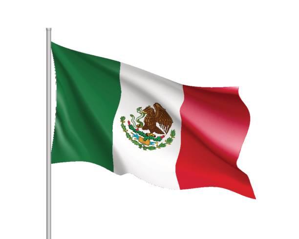 ilustraciones, imágenes clip art, dibujos animados e iconos de stock de bandera de méxico agitando - bandera mexicana