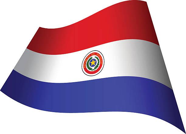 Agitando bandera de Paraguay - ilustración de arte vectorial