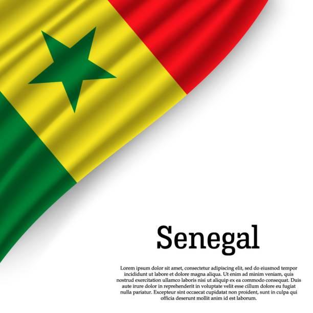 waving flag of senegal - senegal stock illustrations