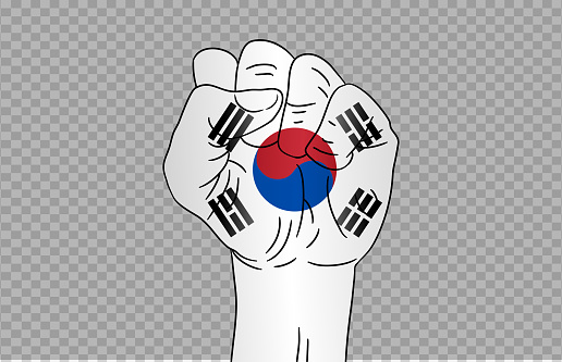 Waving flag of  South Korea isolated  on png or transparent  background,Symbol of  South Korea,template for banner,card,advertising ,promote, TV commercial, ads, web, vector illustration