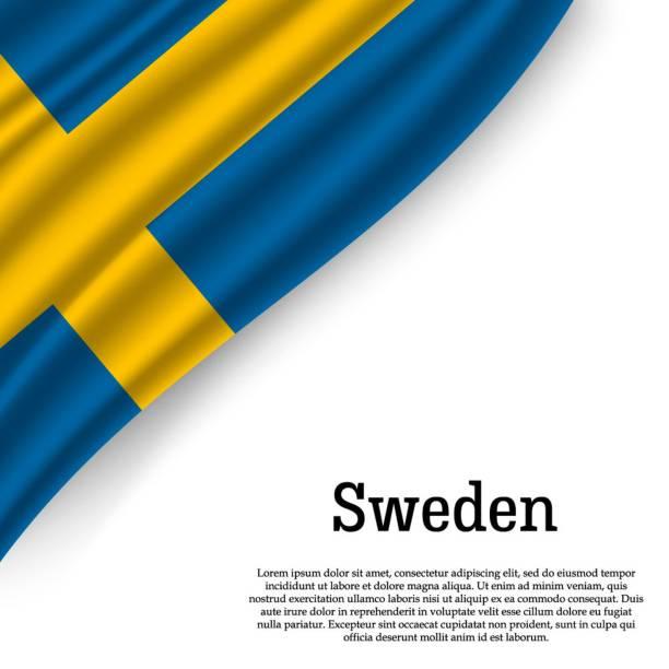 wehende Flagge von Schweden – Vektorgrafik