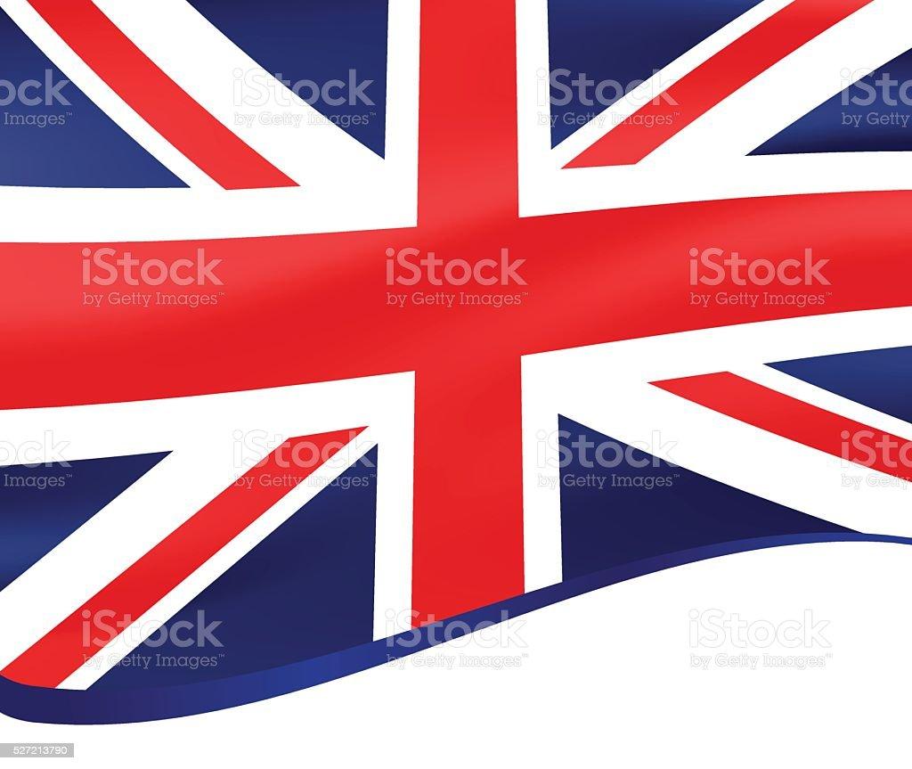 手を振るの旗英国ベクトルの背景 ベクターアートイラスト