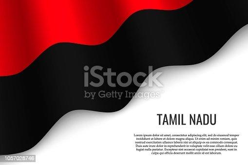 istock waving flag on white background 1057028746