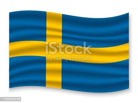 istock 3D Waving Flag 1154410745