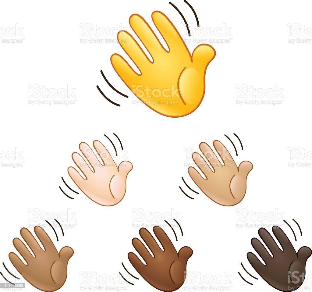 Acenar Mão Sinal De Emoji - Arte vetorial de stock e mais imagens ...