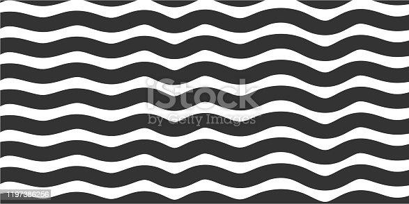 Waving Line Pattern Background