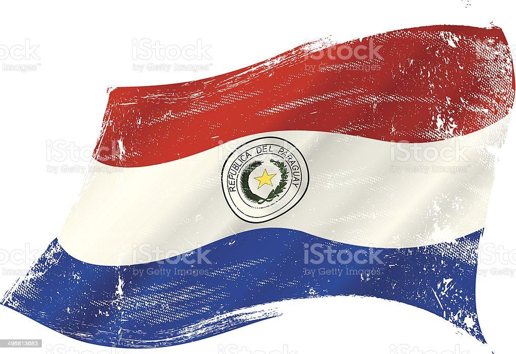 Agitando grunge de bandera paraguaya - ilustración de arte vectorial