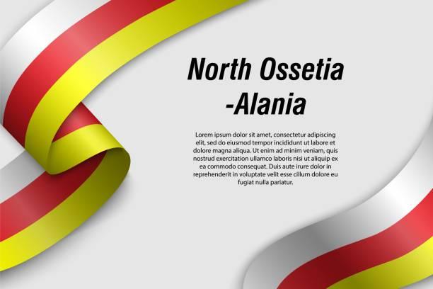 winken band oder banner mit flagge region von russland - alanya stock-grafiken, -clipart, -cartoons und -symbole