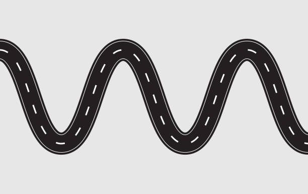 Royalty Free Curved Road Clip Art, Vector Images ...
