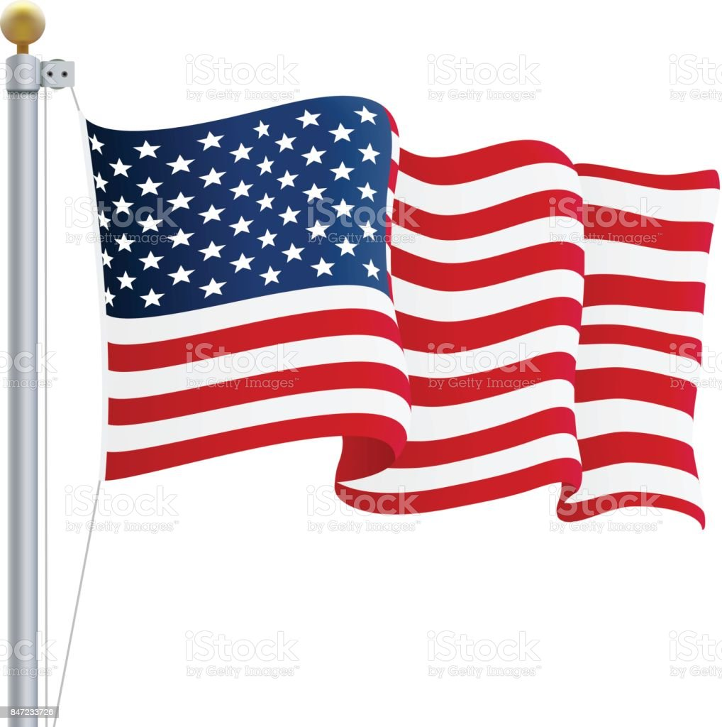 waving united states of america flag uk flag isolated on a white rh istockphoto com waving american flag vector free download waving us flag vector