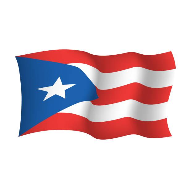 ilustrações, clipart, desenhos animados e ícones de bandeira de ondulação do vetor de puerto rico. commonwealth of puerto rico estados unidos da américa - bandeira union jack