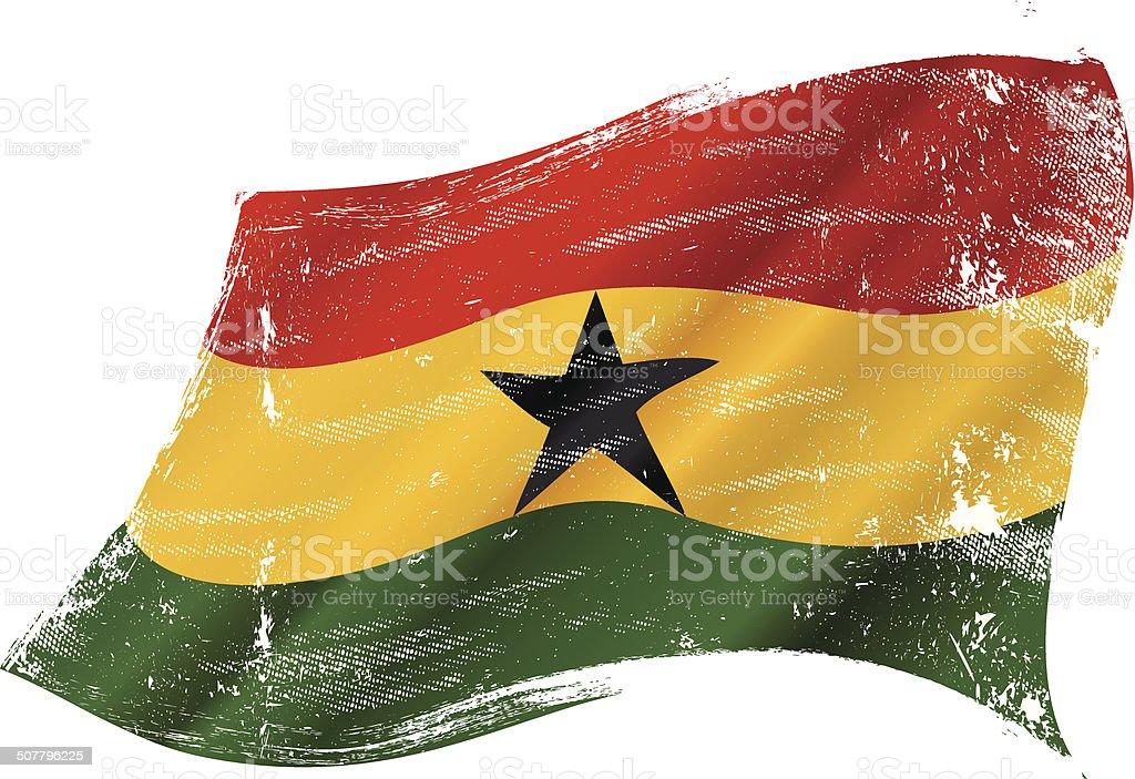 Agitando meciéndose grunge de bandera de grunge de bandera de ghana - ilustración de arte vectorial